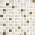 Atlas Concorde Sunrock travertino white mosaico gold 2,5x2,5
