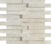 Apavisa Evolution ivory striato mosaico brick 30x28