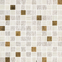 Atlas Concorde Sunrock travertino white mosaico gold 2,5x2,5