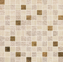 Atlas Concorde Sunrock travertino almond mosaico gold 2,5x2,5