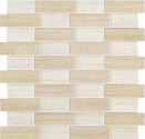 Atlas Concorde Sunrock travertino almond + white mosaico fabric 30x30
